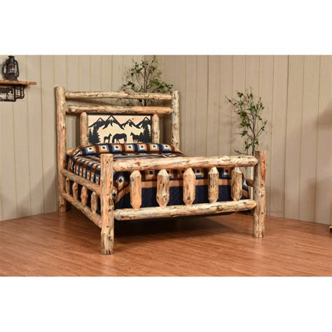 knotty pine headboard knotty pine collection bed with silhouette headboard