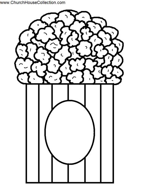 popcorn coloring pages printable coloring home