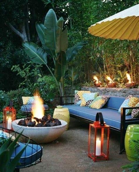 feuerstelle für balkon terrasse idee lounge