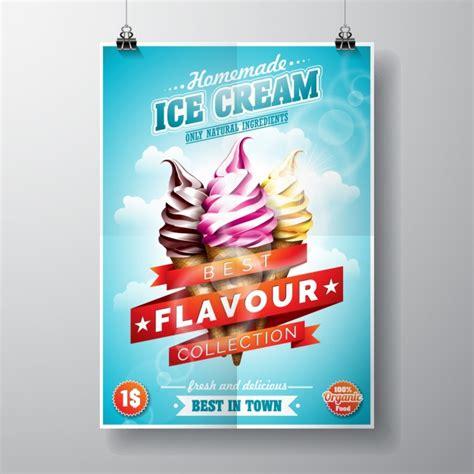 Design Poster Ice Cream | ice cream poster design vector free download
