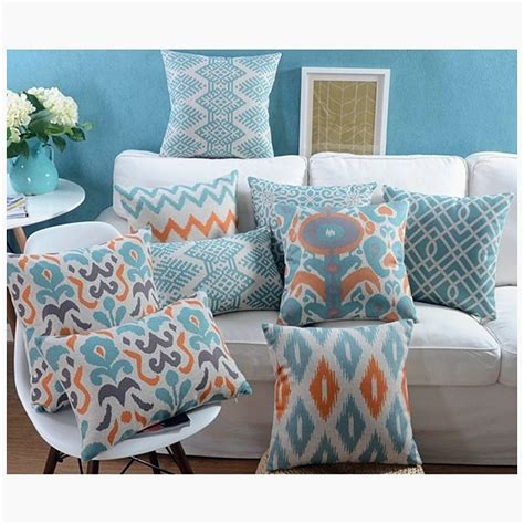 pillows on couch blue couch pillows reviews online shopping blue couch