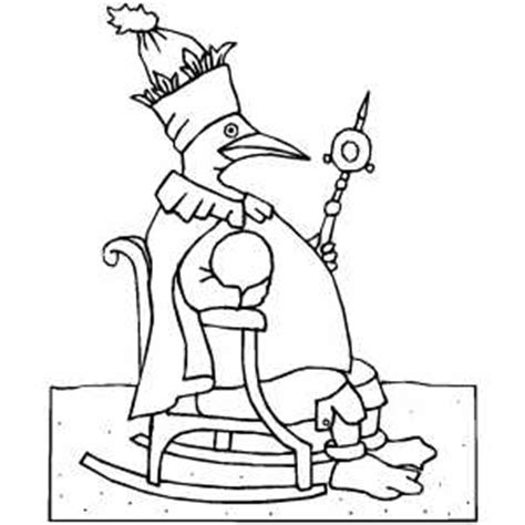 royal penguin coloring page royal penguin coloring page