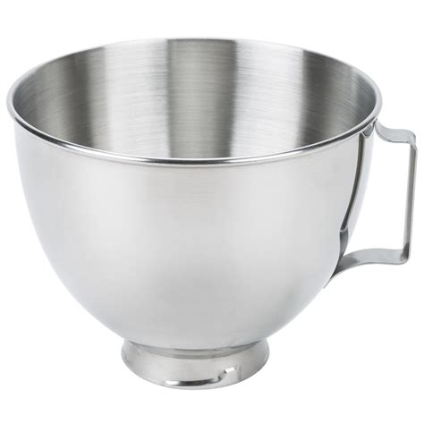 Bowl With Handle kitchenaid k45sbwh stainless steel 4 5 qt mixing bowl