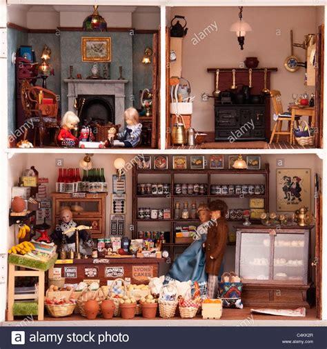 edwardian dolls house life inside a victorian edwardian dolls house stock photo royalty free image