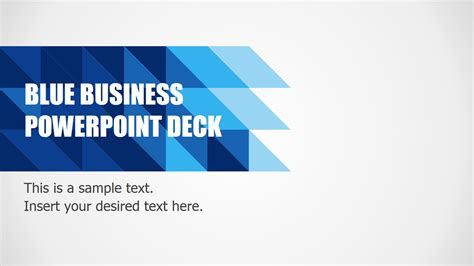 a powerpoint template blue business powerpoint deck origami splash slide