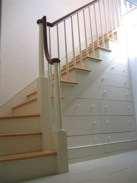 beautiful and practical stair drawer system