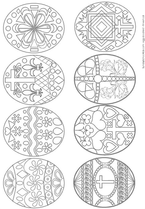 coloring pages ukrainian easter eggs easter egg templates