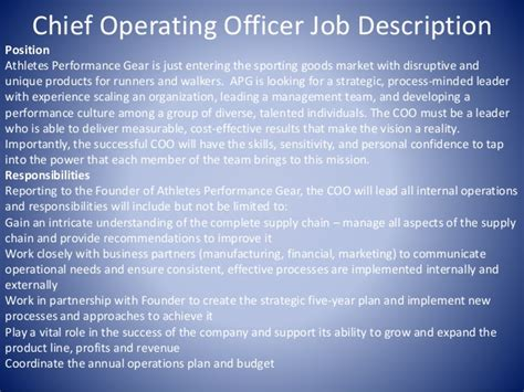 Operating Description by Coo Marketing Manager And Customer Support Descriptions
