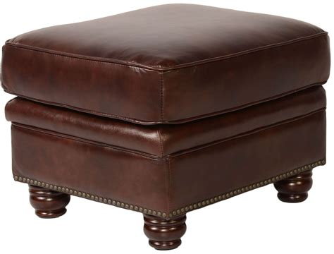 rustic leather ottoman appalachian rustic savauge leather ottoman from lazzaro