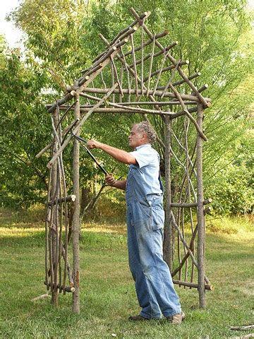 make your own willow arbor garden structures pinterest