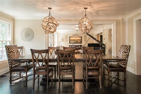 Dining Room Chandeliers With Looking Extendable Dining Table In Dining Room