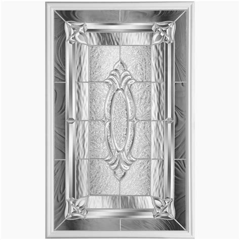 masonite providence 22 inch x 36 inch nickel glass insert