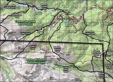 comanche map comanche peak wilderness colorado national wilderness areas