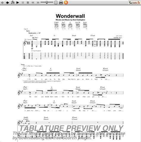 Chords For Wonderwall