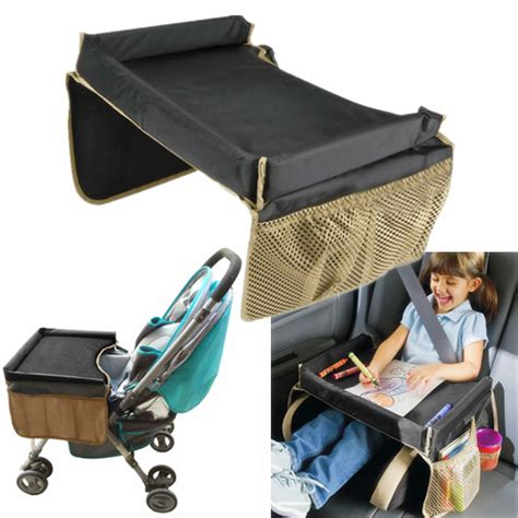 child seat with tray play snack kid baby toddler car seat safety travel tray