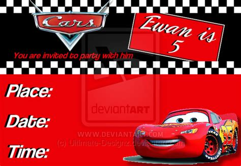 disney cars birthday card template cars invite template by ultimate designz on deviantart