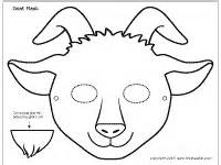 goat template printable goat mask printable templates coloring pages