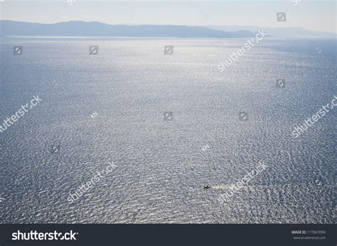 small boat in spanish small fishing boat in morning light outside the the