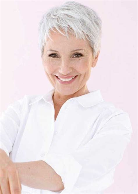 silver pixie hair cut fine hair pixie for mature ladies older women hairstyles