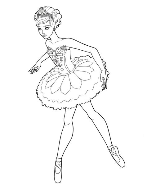 coloring pages for ballerina ballerina coloring page 8058