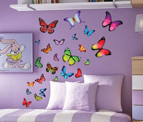 Butterfly Wall Decals For Nursery Colorfull Butterfly Nursery Wall Decals Set Of 40 3002 Innovativestencils