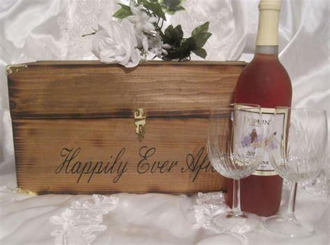 Wedding Wine Box Rustic Time Capsule Keepsake Love Letter