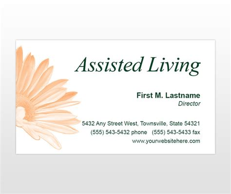 Senoirs Assisted Living Residence Facility Business Card Templates Mycreativeshop Com Living Business Card Template