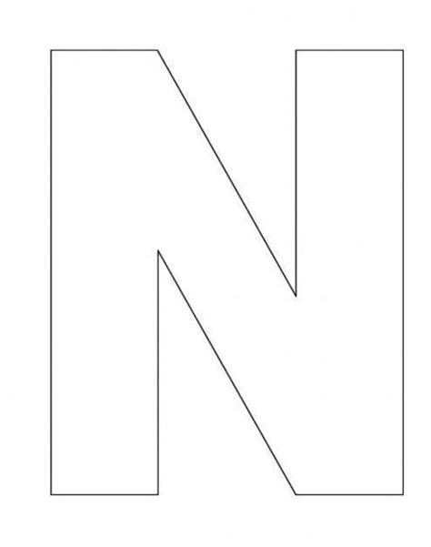 letter n template letter templates templates and letters on