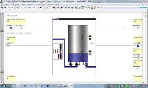 plc program hot water tank youtube