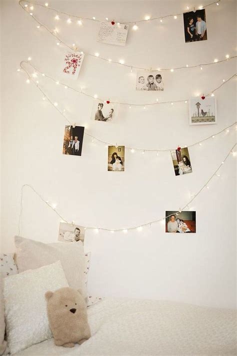 String Wall - diy photo wall string lights