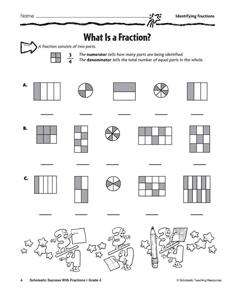 Fractions Worksheets Grade 4 Pdf
