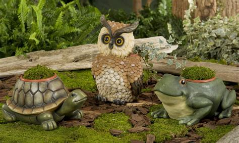 Animal Garden Accents New Garden Animal Planters Choose From Frog Turtle Owl