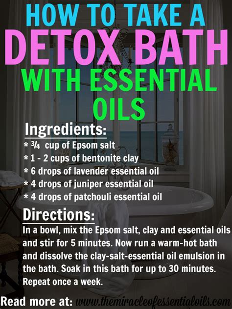 Why Did The Greeks Use Baths For Detox by Diy Detox Bath With Essential Oils The Miracle Of