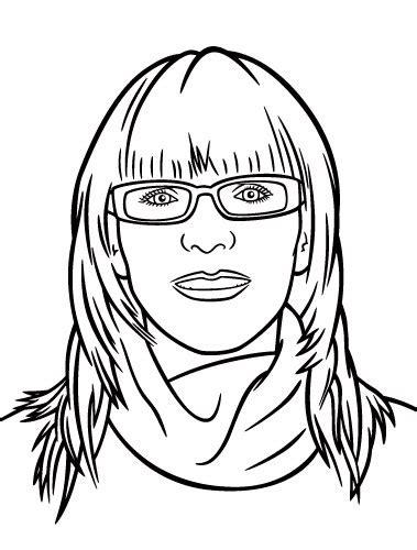 line art portrait tutorial avatar portrait illustration vector line art completed