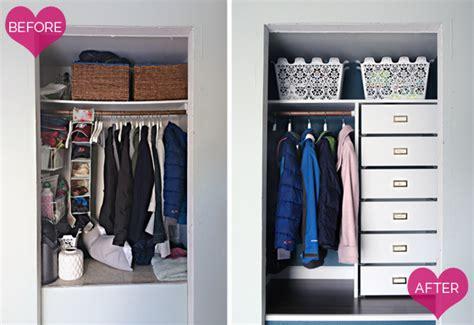 Coat Closet Organizers by Iheart Organizing A Coat Closet Makeover Again