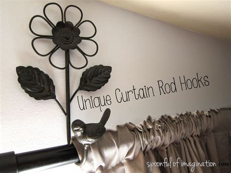 unique curtain rod hey babe where did our towel hooks go spoonful of