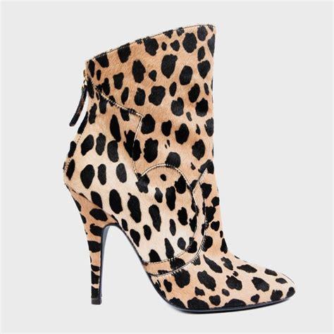 giuseppe zanotti for balmain leopard print ankle boots at