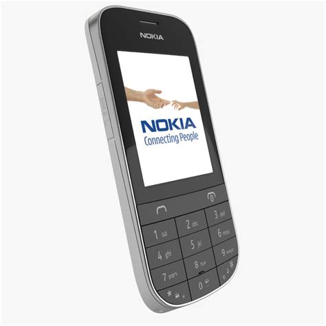 nokia asha 202 themes with tone 3d model of nokia asha 202 white by 3d molier collection