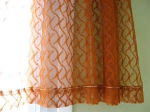 Rust Colored Curtains Sheer Curtains Burnt Orange Rust Color Netted Drapes