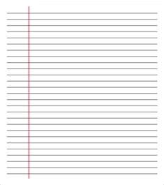 Make Lined Paper - paper template 37 free word excel pdf format