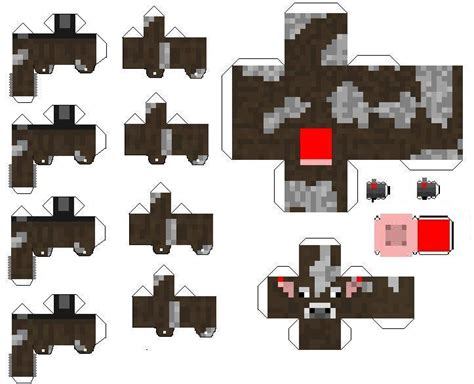 Minecraft Papercraft Cow - papercraft bendable cow