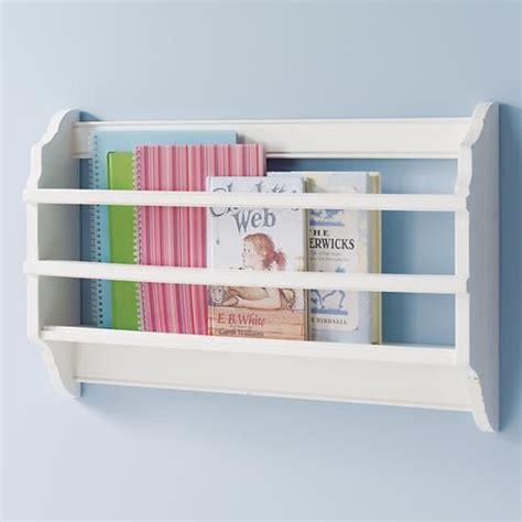 the land of nod shelves white wall book bin