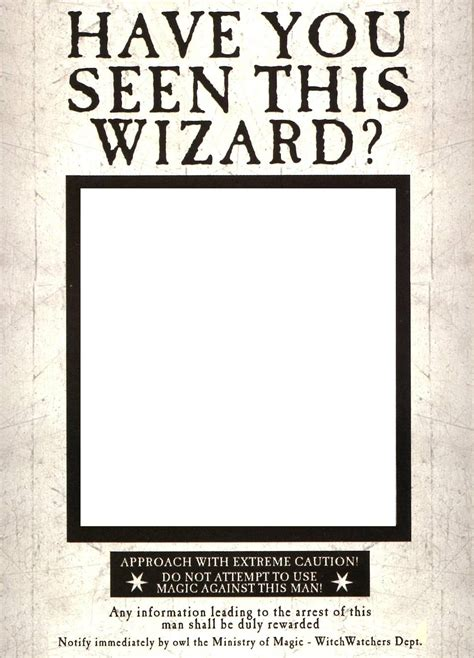 printable poster generator have you seen this wizard photobooth harry potter