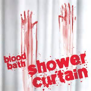 Blood Bath Shower Curtain New Blood Bath Shower Curtain Bathroom Novelty Horror Gift