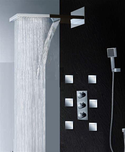 Fantastic Shower Set Combo With Freestanding Shower Also Cool Bathroom Showers