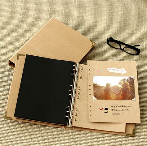 How To Make Photo Album With Paper - aliexpress buy no printed diy photo album scrapbook