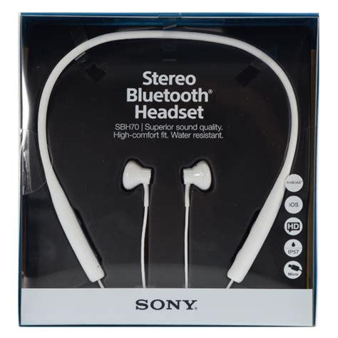 Sony Stereo Bluetooth Headset Sbh70 sony sbh70 multipoint stereo bluetooth headset water resistant earphones white ebay