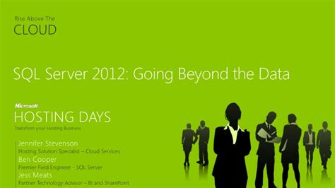 rise above going beyond the sql sever 2012 going beyond the data