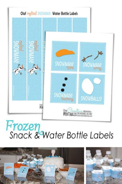 free printable melted olaf labels frozen printables onecreativemommy com