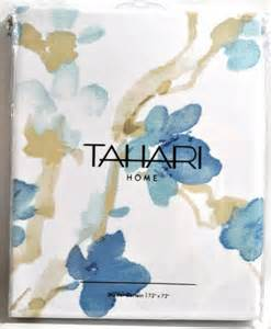 Tahari Bathroom Accessories Tahari Home Printemps White Blue Floral Fabric Shower Curtain Furniture Beds Accessories Beds